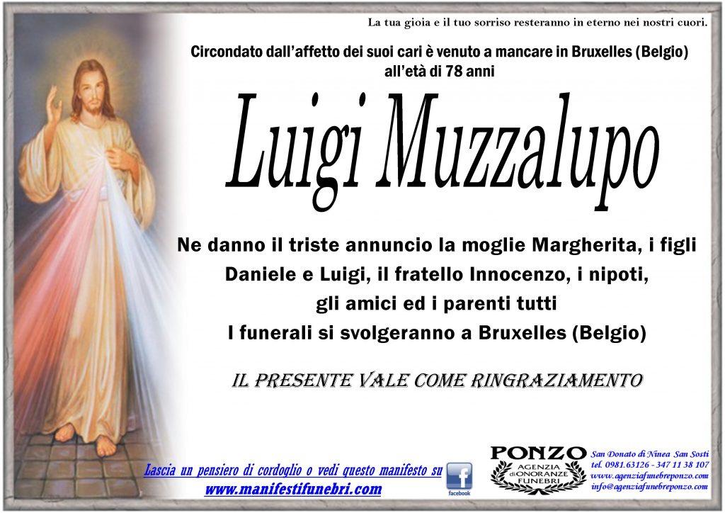 necrologio Luigi Muzzalupo